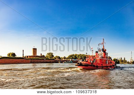 Tugboat In Port