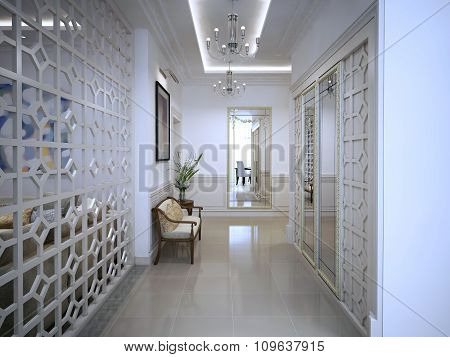 Interior Corridor In The Arab Style.