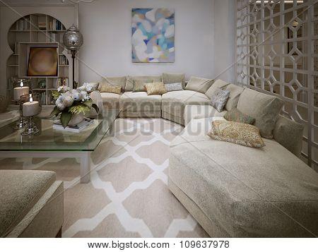 Living Room Arabic Style