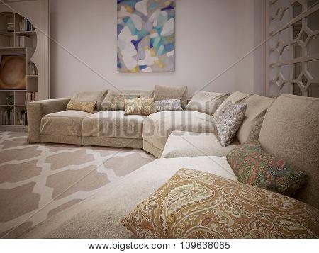 Contemporary Sofa.