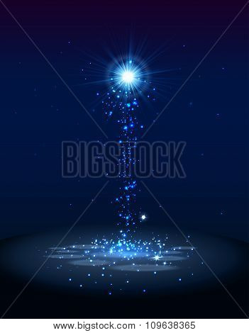 Abstract blue magic light background