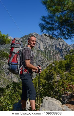 Hiker On The Lycian Trail