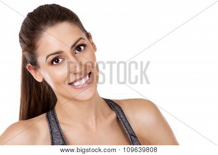 Fitness Woman On White Background