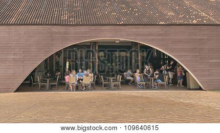 People At Restaurant In Iguazu Park Entrance