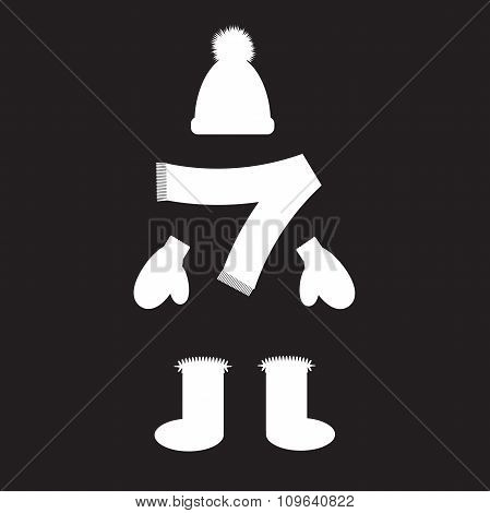 Stencil Winter Clothing