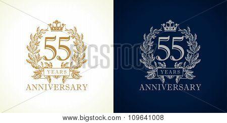 55 anniversary luxury logo.