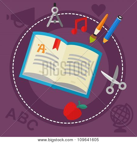 Education and Library Concept