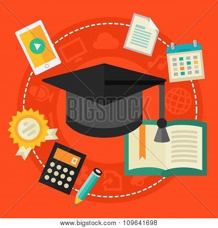 High school education concept
