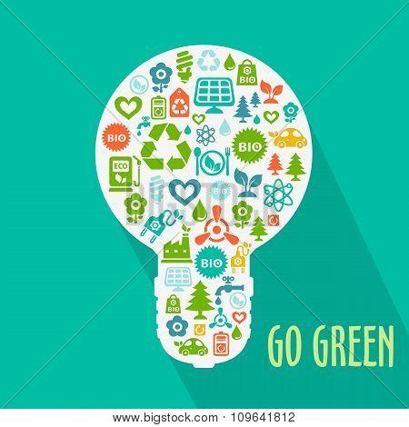 Vector abstract Go Green concept