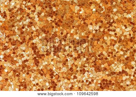 Abstract Golden Glitter Texture Background.