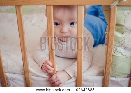 Sad Baby In The Crib