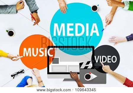 Media Music Video Technology Communication Concept
