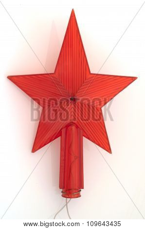 Old red star from USSR