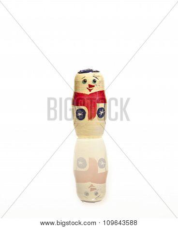 Snowman. Russian matrioshka