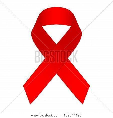 Red Ribbon A Symbol Of The Fight Against Aids