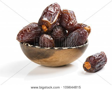 Dried Date Palm Tree Fruits Close Up