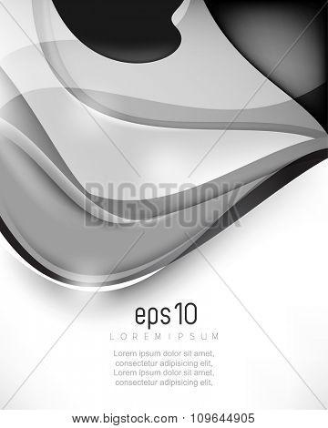 elegant shiny wave elements concept background illustration. eps10 vector