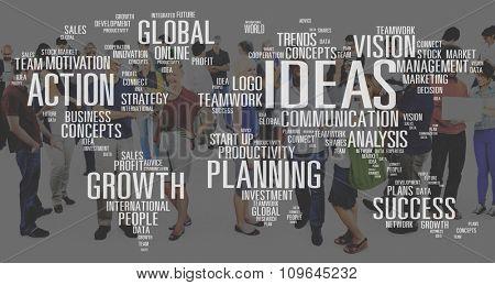 Analysis Communication Development Growth Ideas Concept