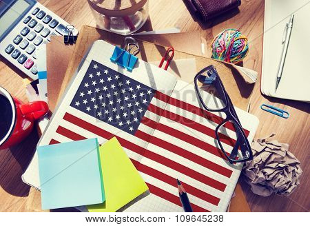 American Flag Nationality Liberty Country Concept