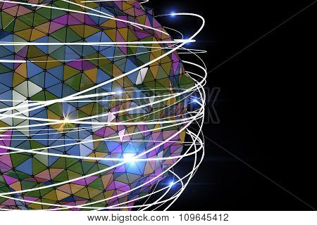 Abstract Background Colourful Polygons With White Stroke And Light