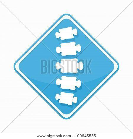 Vector medical diagnostic spine center logo