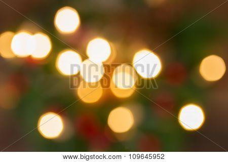 christmas  lights defocused background