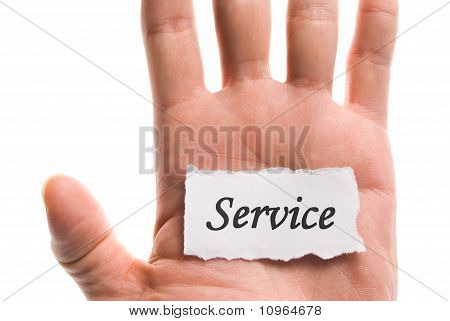 Servise Word In Hand