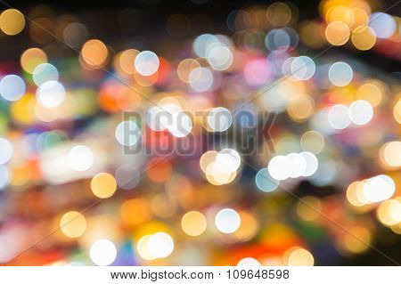Multiple colours lights, abstract blurred bokeh background