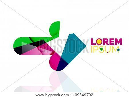 Vector arrow company logo. Geometric icon