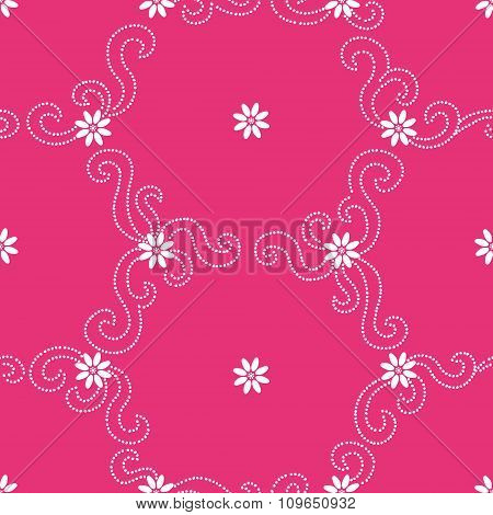 Contrasting Seamless Pattern With Small Flowers.