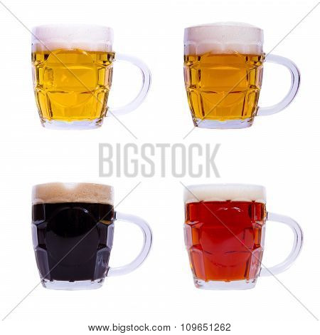 Mugs with different beer