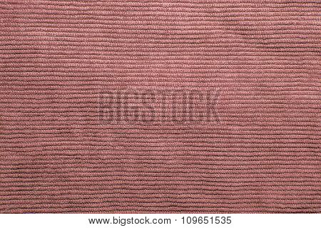Ribbed coffee color corduroy for texture background
