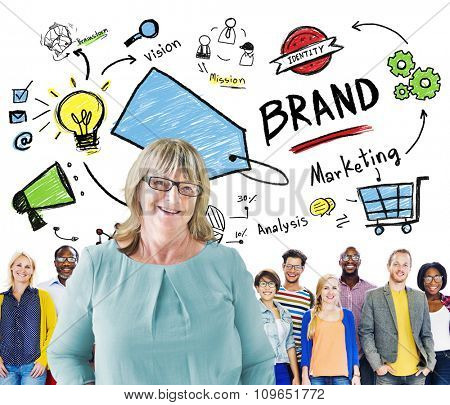 Diverse People Togetherness Team Marketing Brand Concept