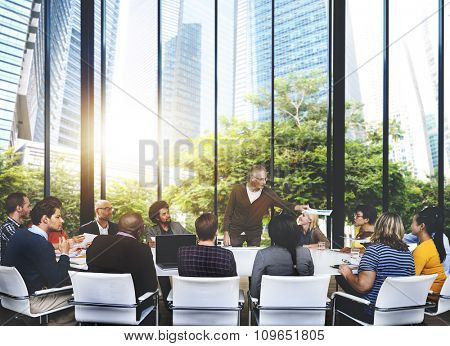 People Meeting Communication Corporate Teamwork Concept