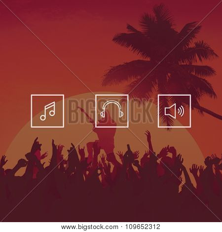 Music Festival Cheerful Enjoyment Party Concept