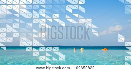 Polygon Shape Mosaic Design Abstract Transparent Concept