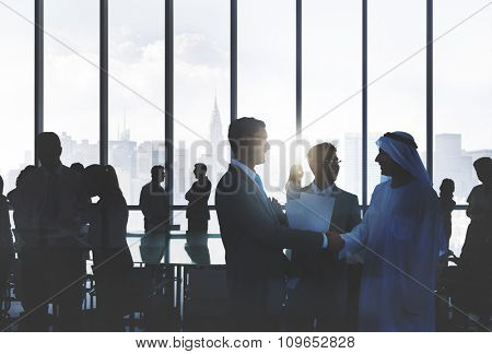 Business People Meeting Corporate Handshake Greeting Concept