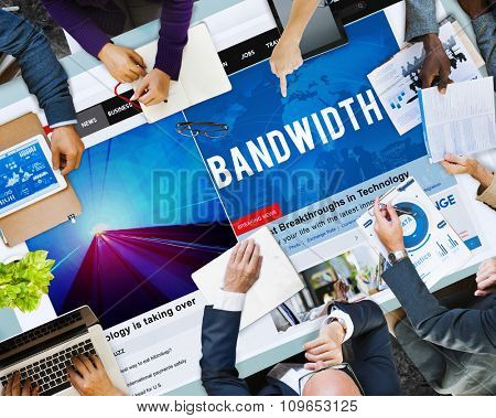 Bandwidth Internet Online Connection Broadbabd Technology Concept