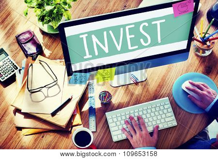 Invest Investment Economy Financial Marketing Concept