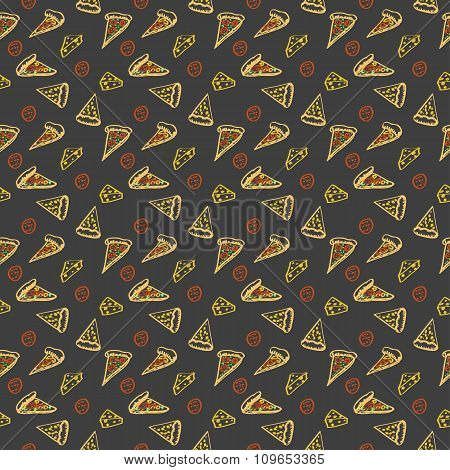 Pattern Pepperoni pizza color