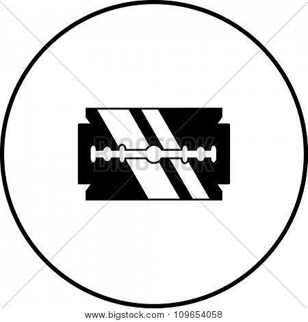double edge razor blade symbol