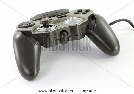 a joypad on white background with cliping path