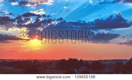 Colorful Sky At Sunset