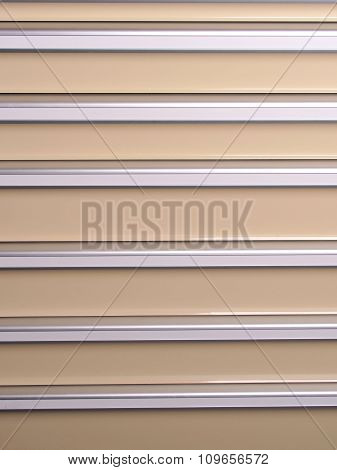 Silver and beige slat background