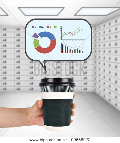 Coffee Cup With Stock Chart