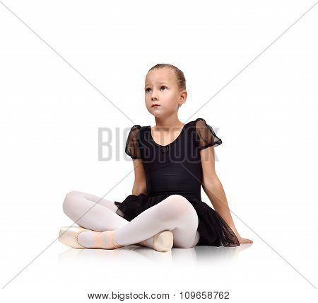 Ballerina Kig Sitting On Floor