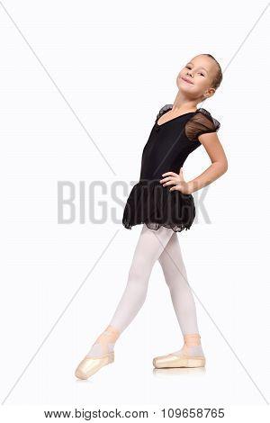 Ballet Dancer Girl In Black Tutu