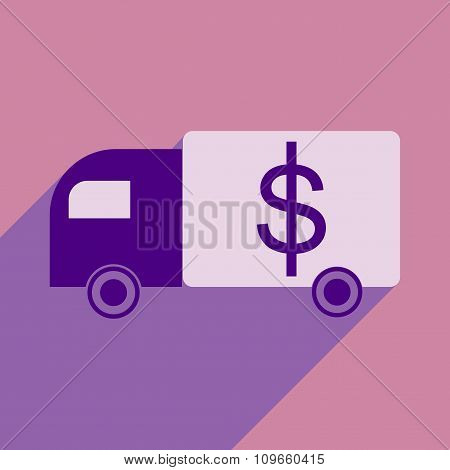 Flat with shadow icon Special Vehicles dollar