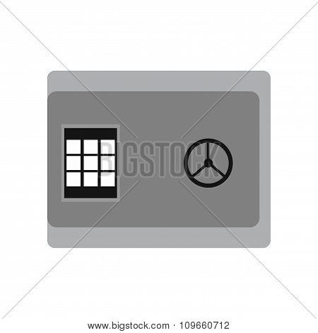 Modern flat icon cash safe on white background