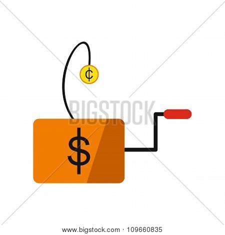 Modern flat icon economic logo on white background
